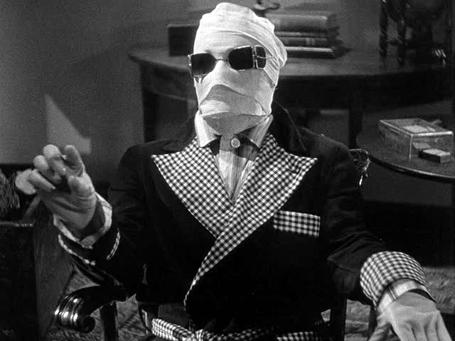 Claude Rains as Dr. Jack Griffin in The Invisible Man (1933)