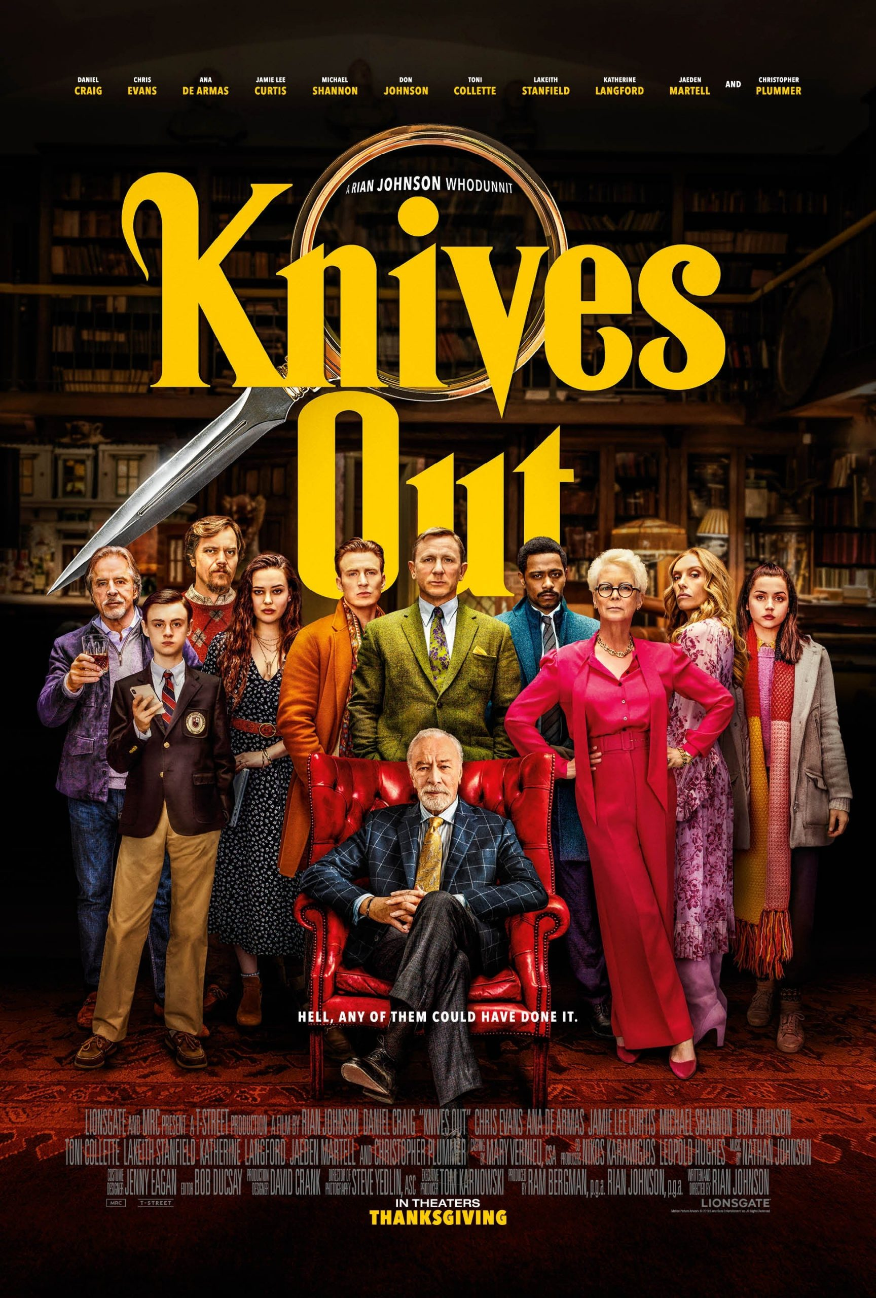 I suspect foul play knives out movie