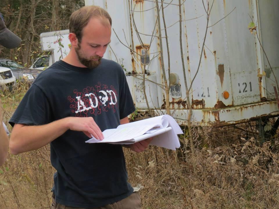 director looking over script