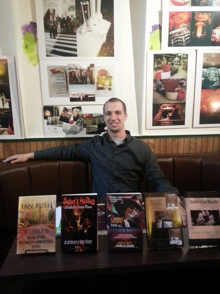 Book signing at the wonderful Brownstone Coffeehouse in Battle Creek, Michigan.