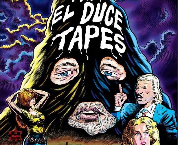The cover art for the new documentary being featured on ARROW FILM's new streaming service, 'The El Duce Tapes'