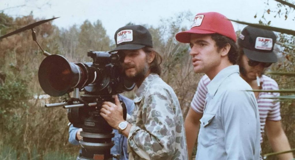 Jeff Lieberman, appearing alongside a camera crew, while he works on one of his many projects.