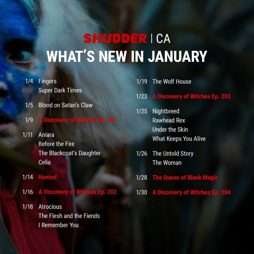 Shudder CA January List