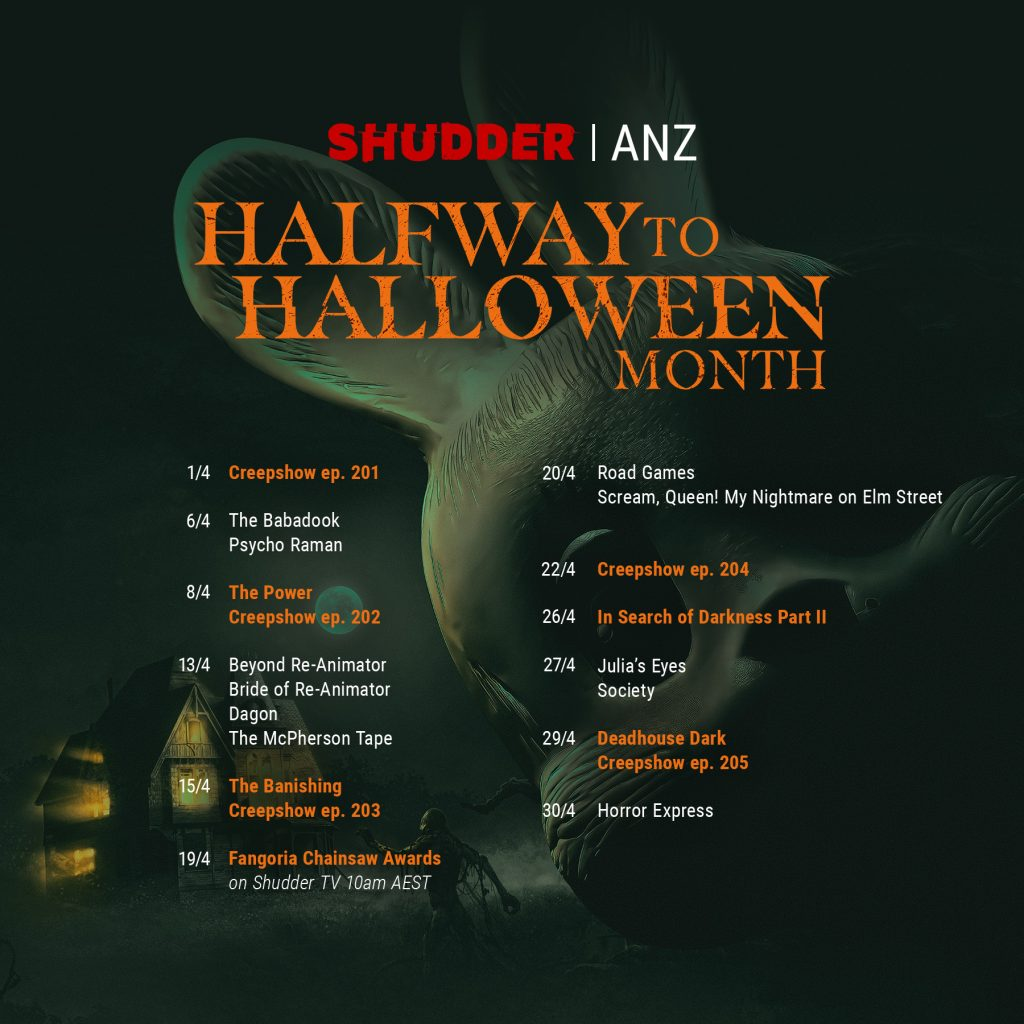 Shudder schedule image ANZ