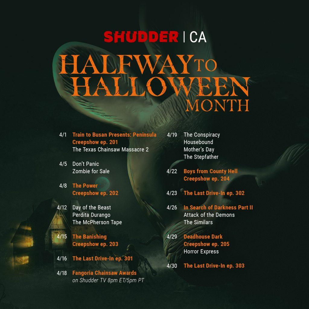 Shudder schedule image Canada