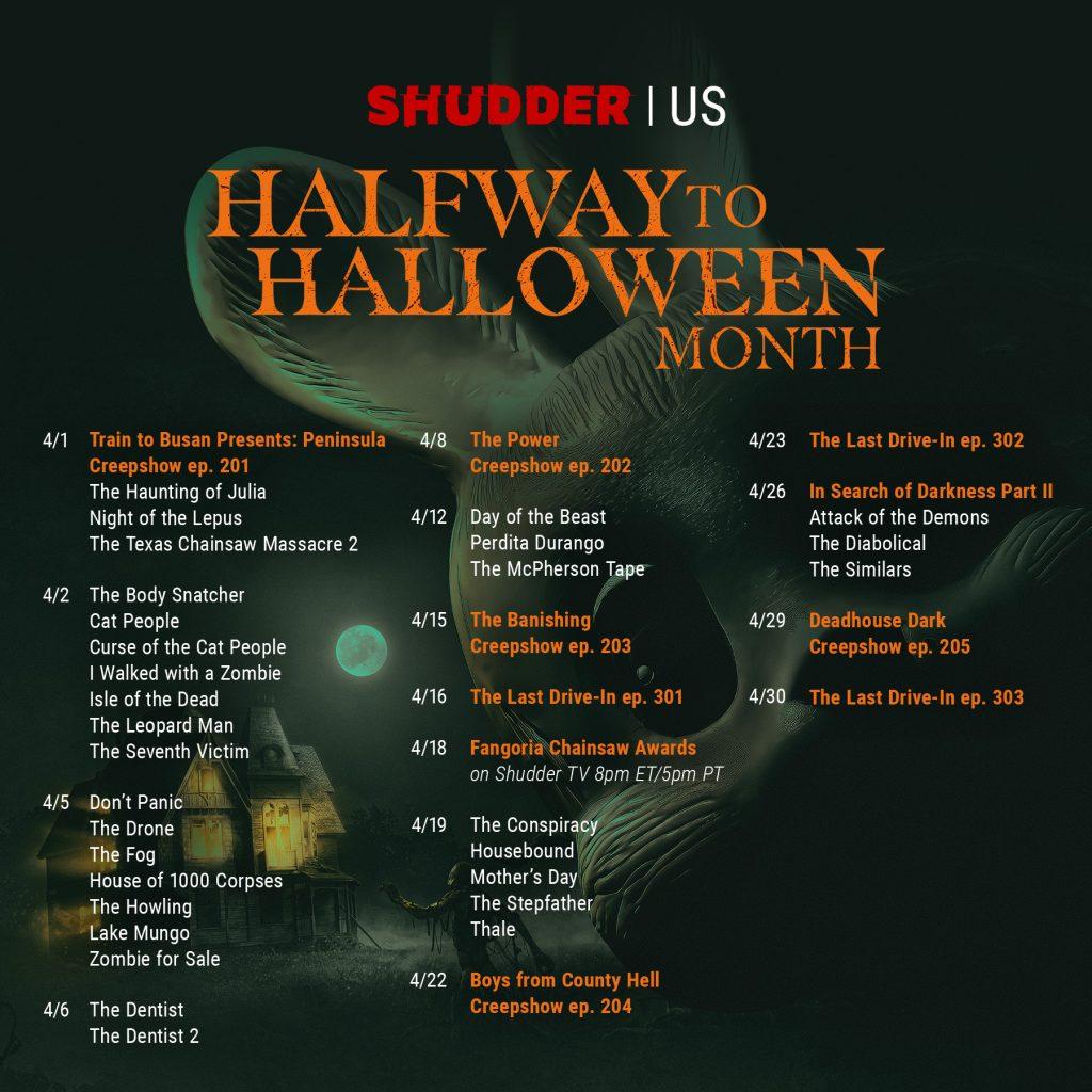 Shudder schedule image USA
