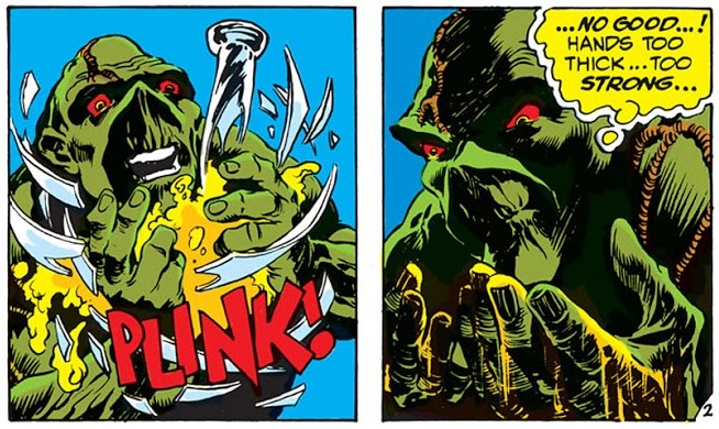 Panels from Swamp Thing Vol. 1 #3 from DC Comics