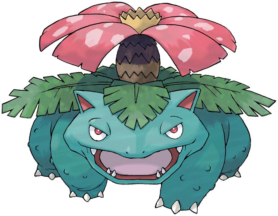 Venusaur, copyright the Pokémon Company and Nintendo