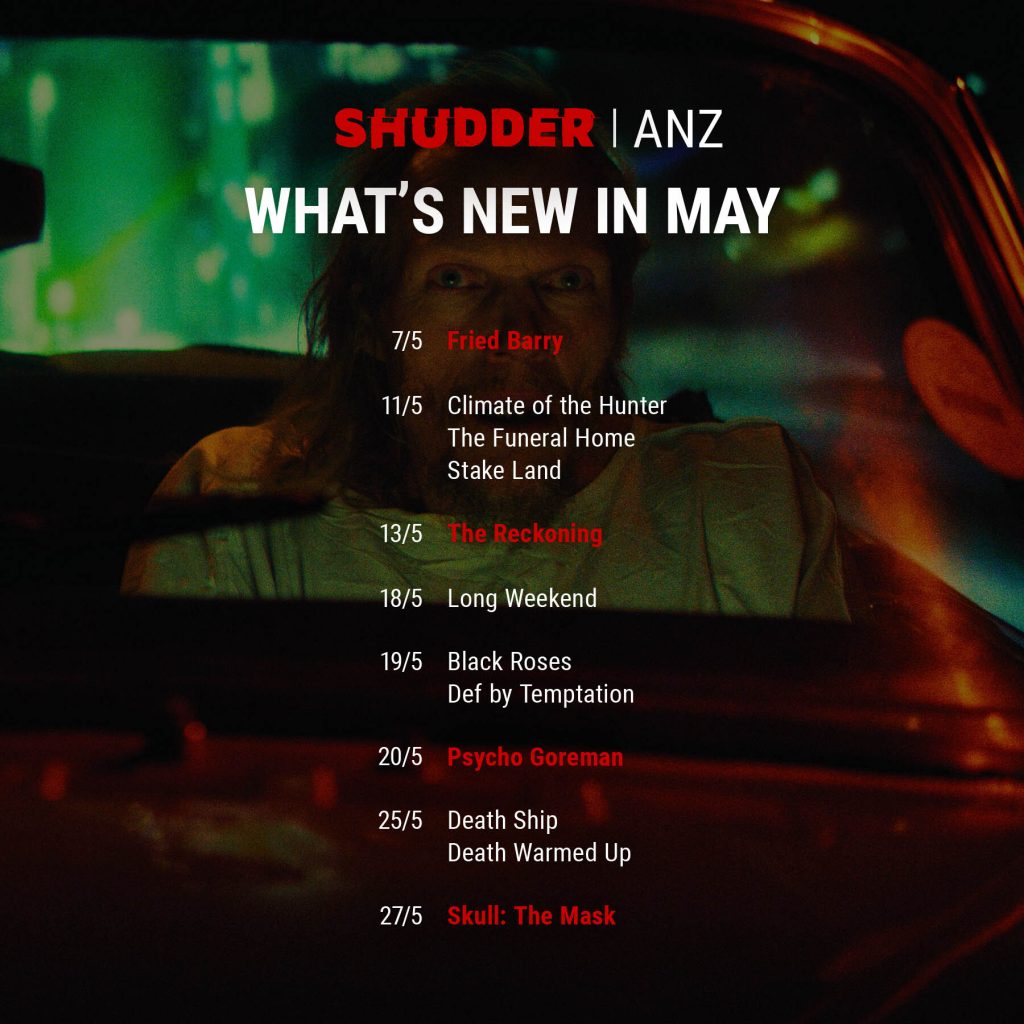 Shudder ANZ Content guide
