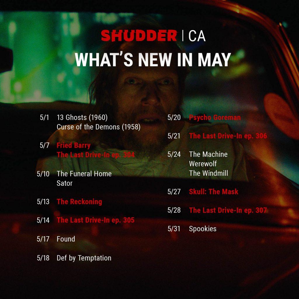 Shudder Content Guide Canada