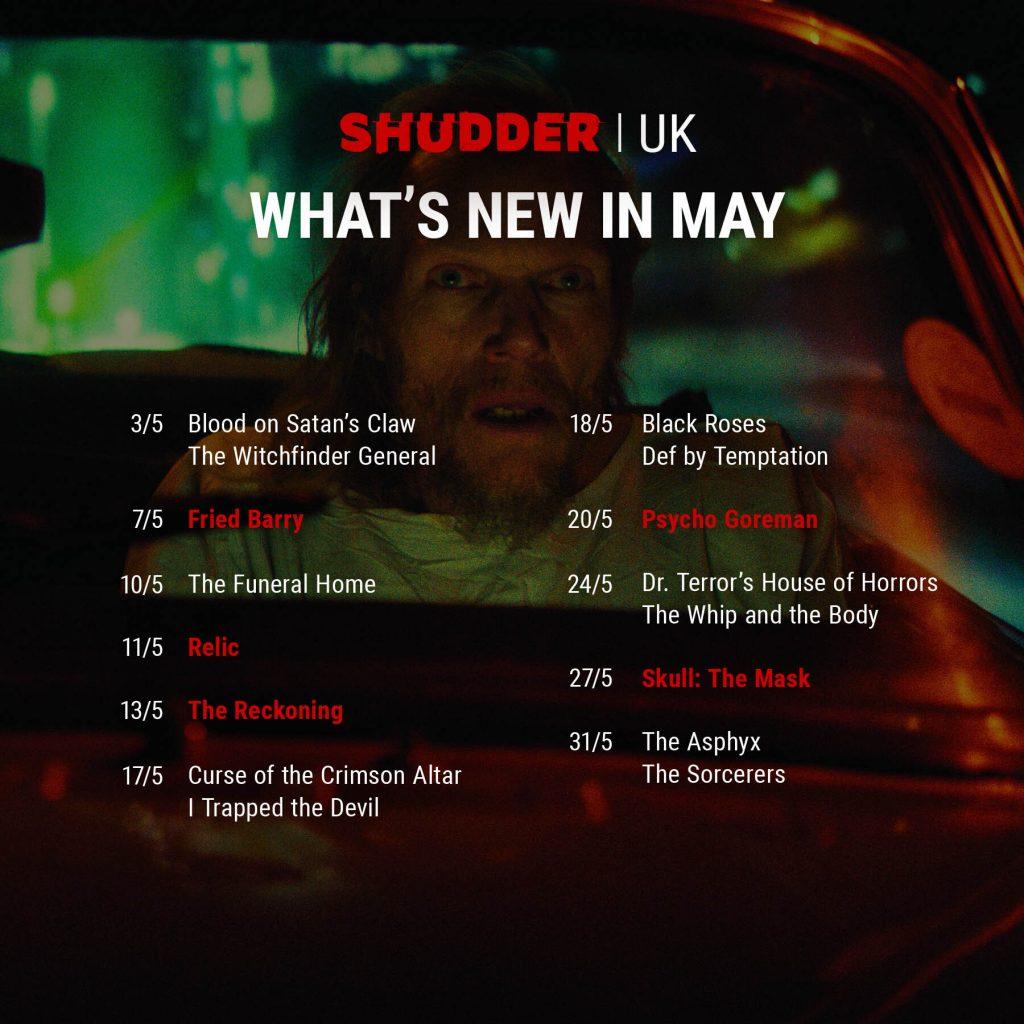 Shudder Content Guide UK