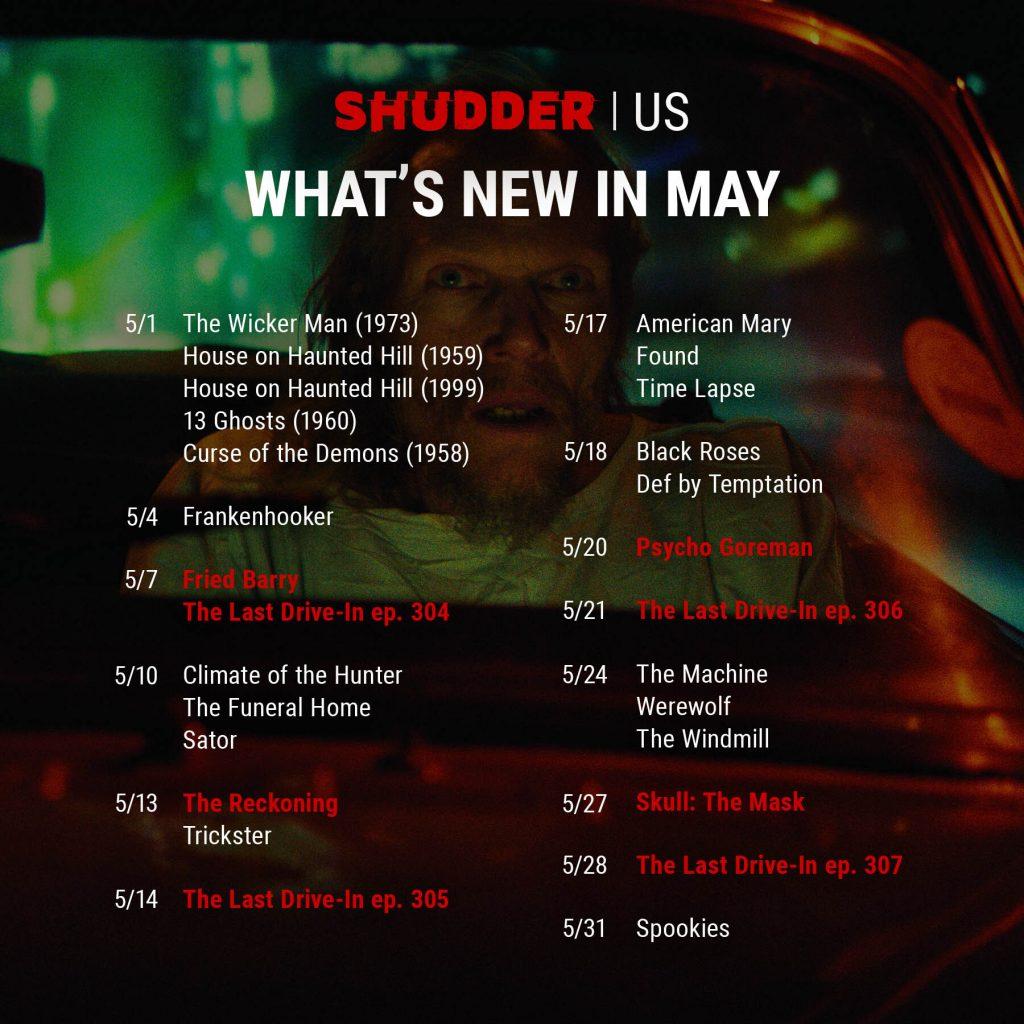 Shudder Content Guide US