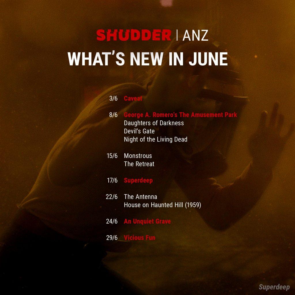 Shudder ANZ June release list