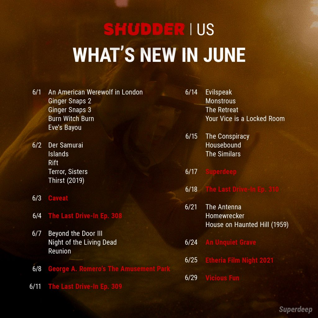 Shudder US June release list