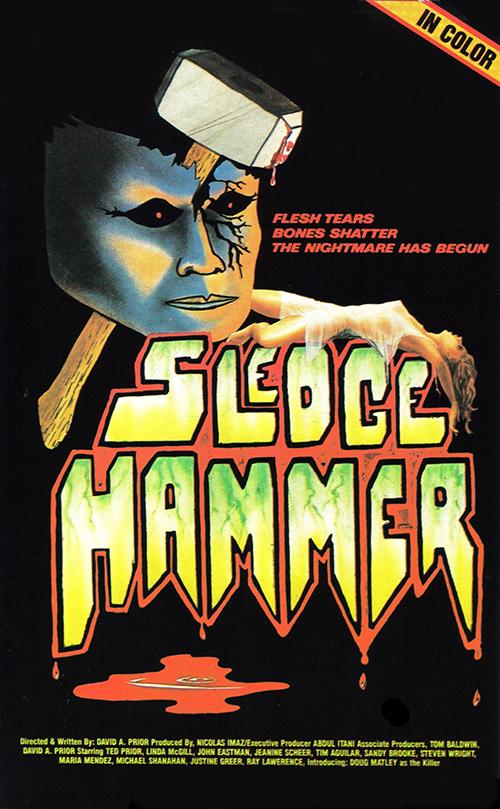 Sledgehammer VHS box art