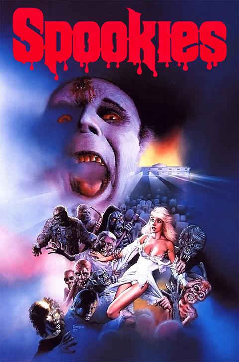 Spookies movie poster by Richard Corben