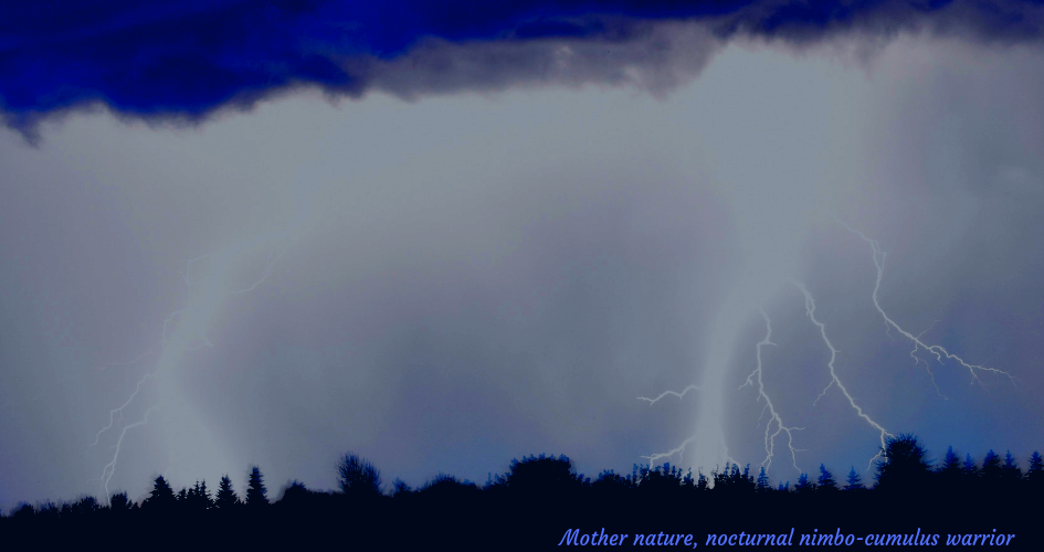 lightning strike with a small poem