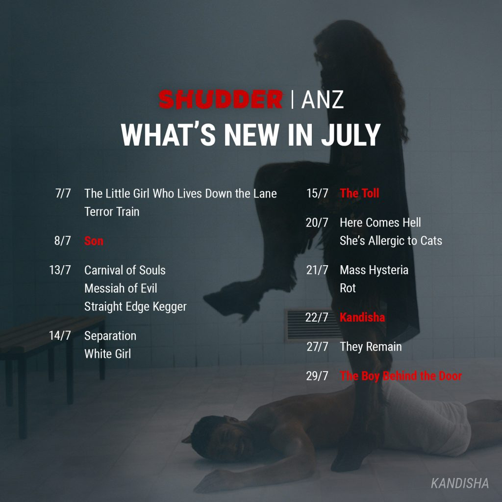 Shudder ANZ July 2021 Release Schedule
