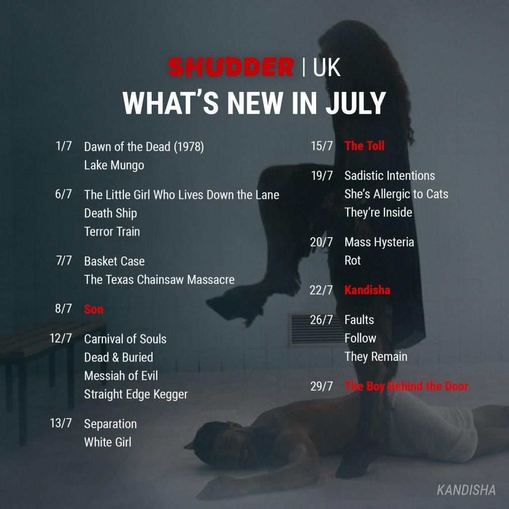 Shudder UK July 2021 Release Schedule
