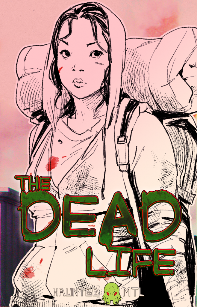 Image depicting Danielle Kim, the main character of The Dead Life, a Haunted MTL original series