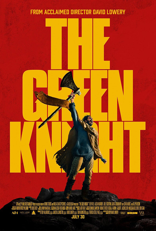 The theatrical poster for The Green Knight 2021