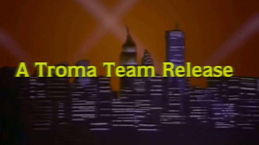 A Troma Team Release title card - this is probably an NFT