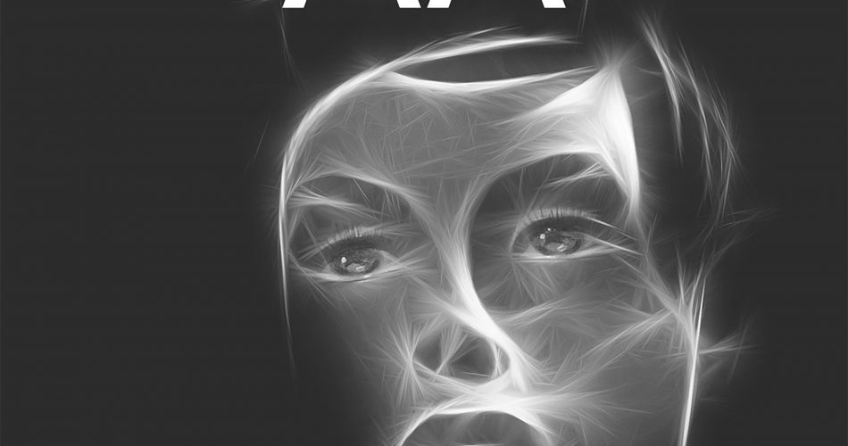 AA original horror radio show 'we all wear a mask' with a face made from white light lines