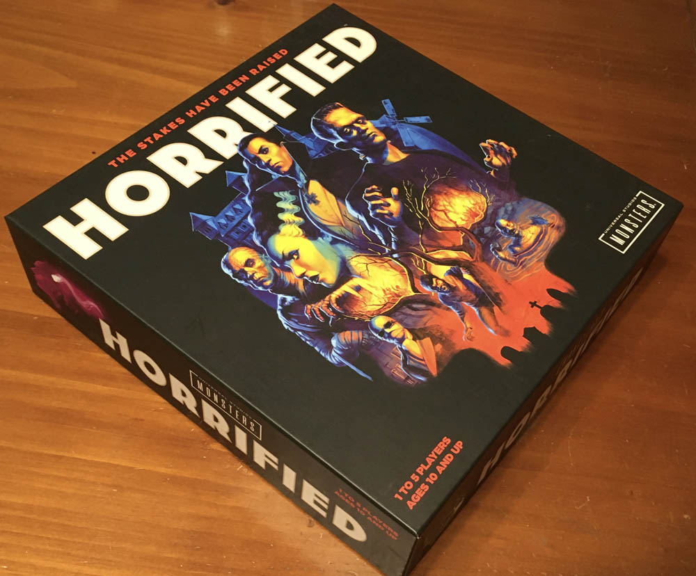photograph of Horrified Universal Studios Monsters board game box