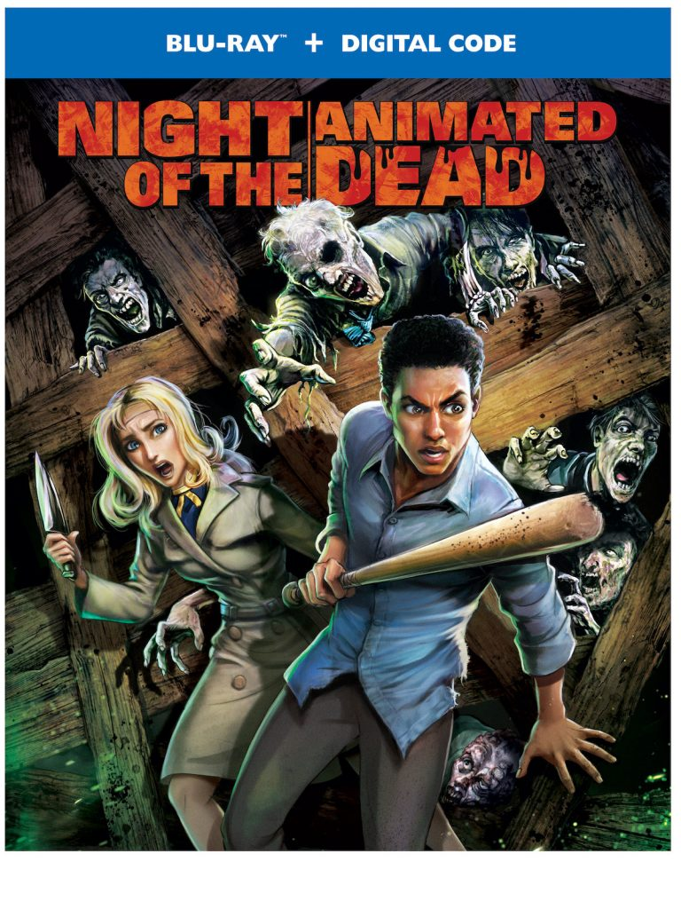 Night of the Animated Dead blu-ray box art from Warner Bros.
