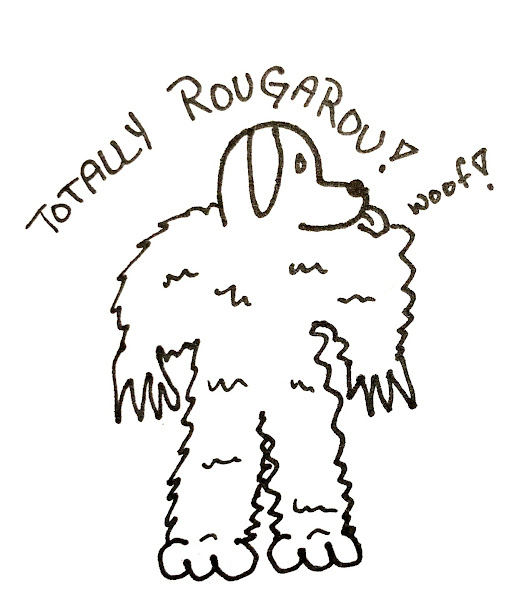 this is a picture jm brannyk drew and it's like perfect. it deserves an award. it's of the rougarou monster and it is wonderful.