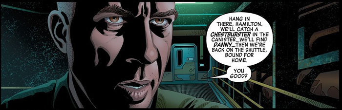 A panel from Marvel's Alien #4