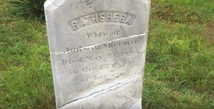 Bathsheba Search for Evil tombstone